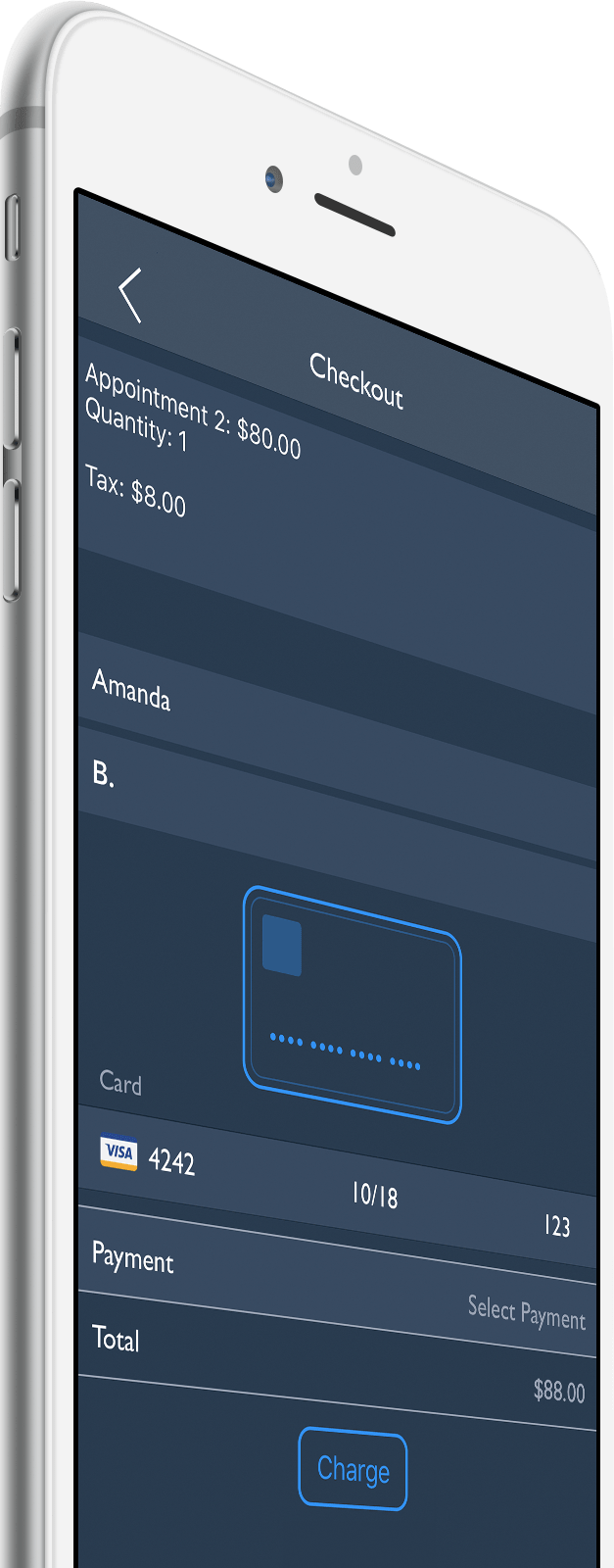 Stride app accept credit cards